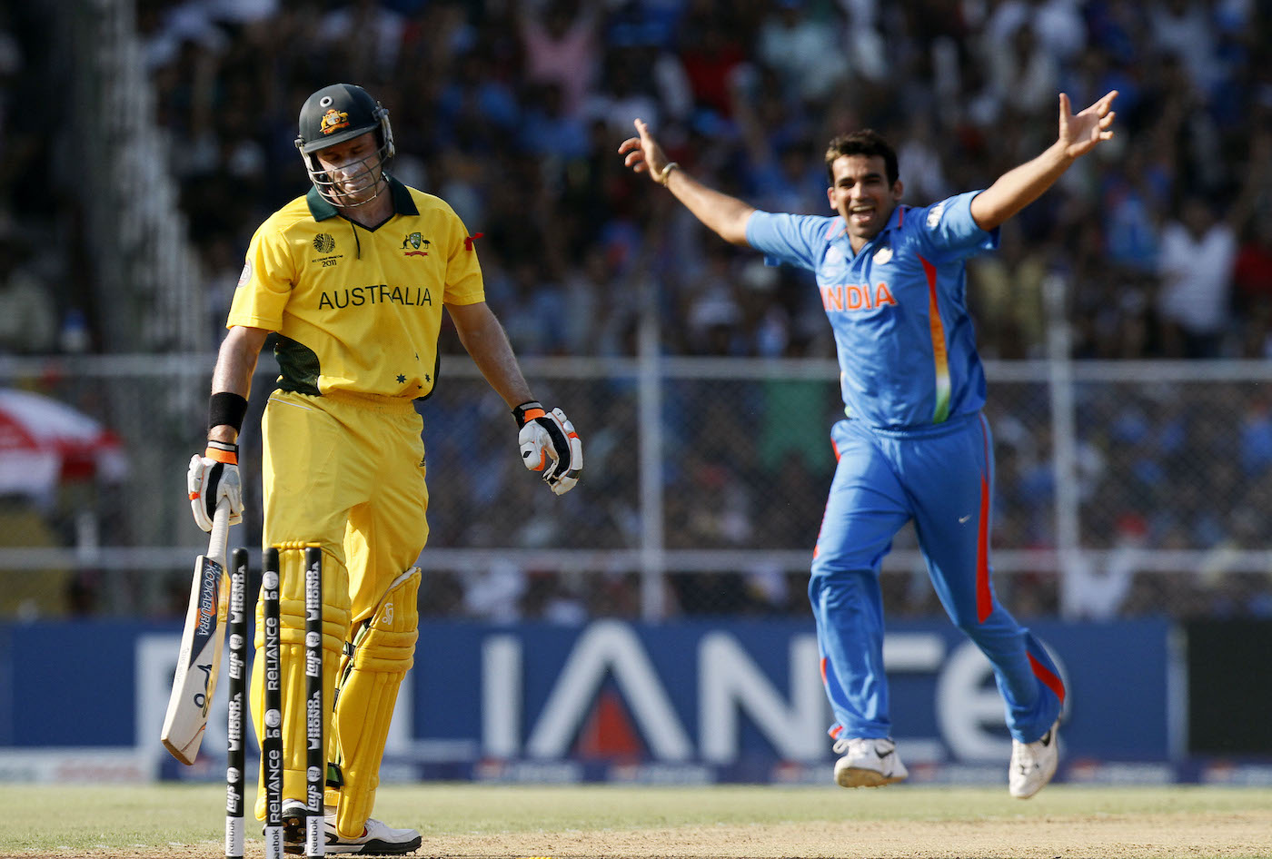 Zaheer Khan deployed his lethal new weapon, the knuckleball, against a hapless Michael Hussey in the quarter-final