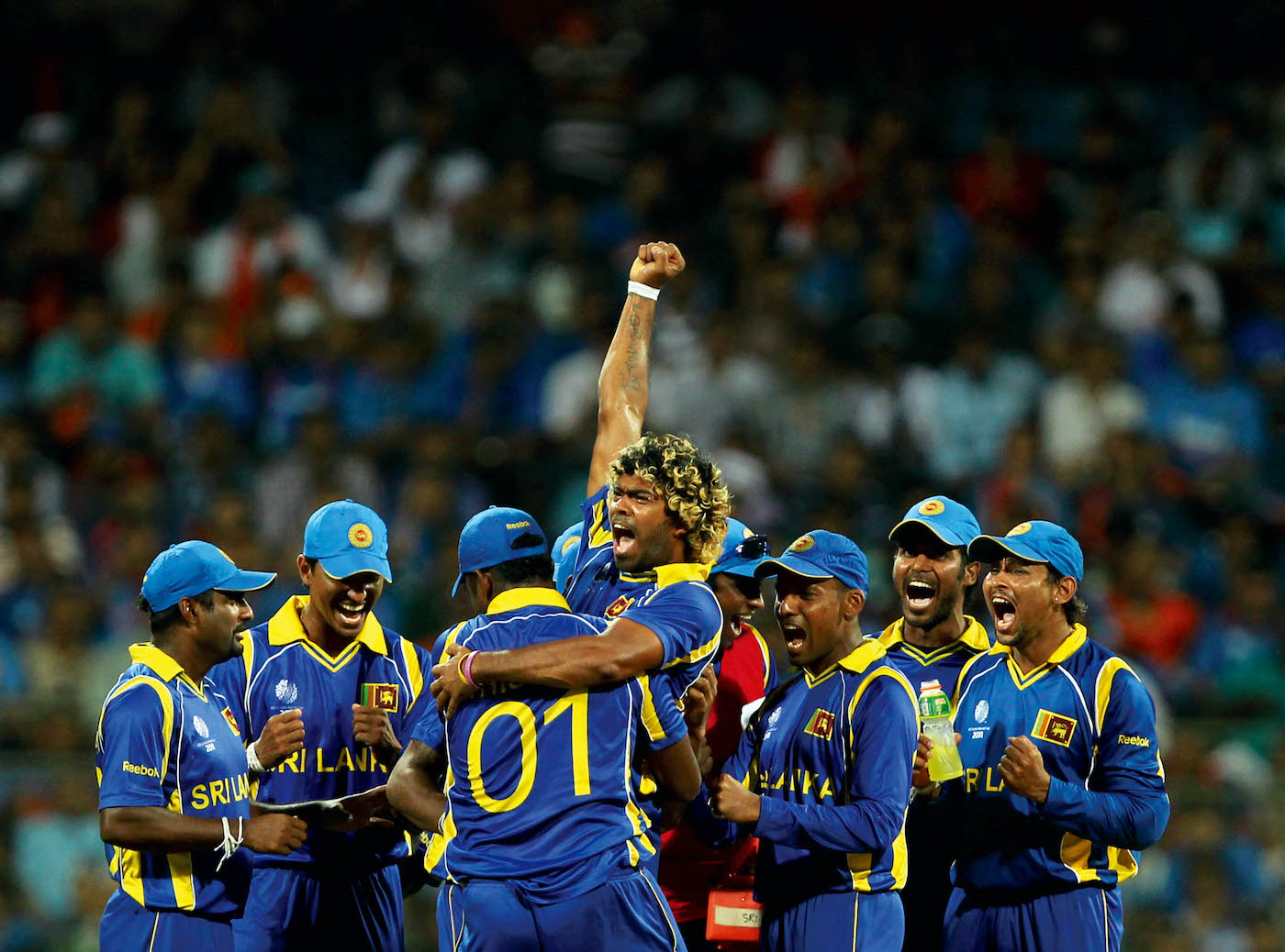 Lasith Malinga silenced the 43,000-strong crowd at the Wankede by removing Virender Sehwag and Sachin Tendulkar in quick succession