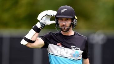 Devon Conway looks on during a New Zealand training session at University of Otago Oval