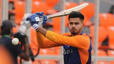 Shreyas Iyer during the fourth T20I against England Ahmedabad, March 18, 2021