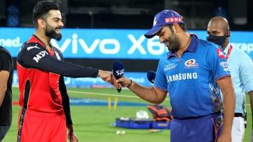 Virat Kohli and Rohit Sharma at the toss
