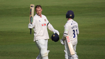 Tom Westley brings up his double-century on the second day at Chelmsford