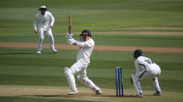 Tom Westley pulls through the on-side, en route to his double century