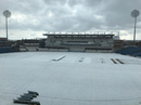 A snow storm in Leeds put paid to the day's play, Yorkshire vs Glamorgan, County Championship, Headingley, April 10, 2021