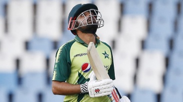 Babar Azam reached his fifty in 27 balls