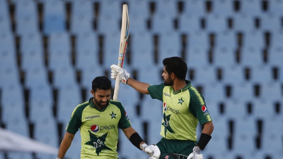 Babar Azam hit his first T20I century