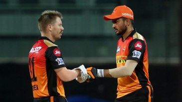 David Warner and Manish Pandey put on a superb stand for the second wicket