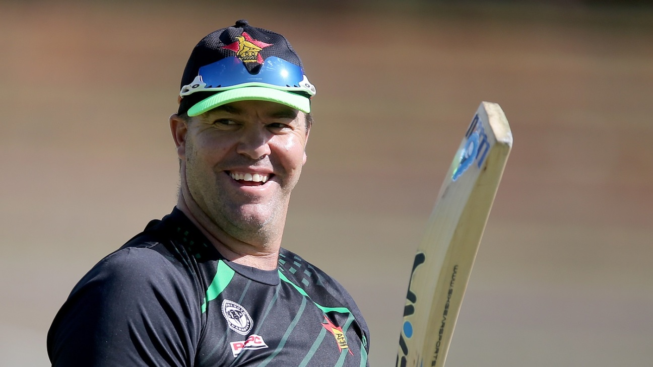 Heath Streak, the Zimbabwe head coach, during the World Cup qualifier between Zimbabwe and Afghanistan