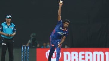 R Ashwin sends down a carrom ball
