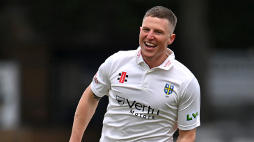 Brydon Carse claimed a second-innings five-for and eight wickets for the match