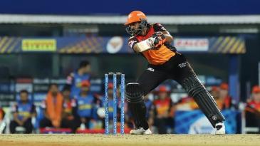Vijay Shankar plays one into the off side