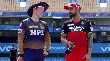 Virat Kohli and Eoin Morgan at the toss