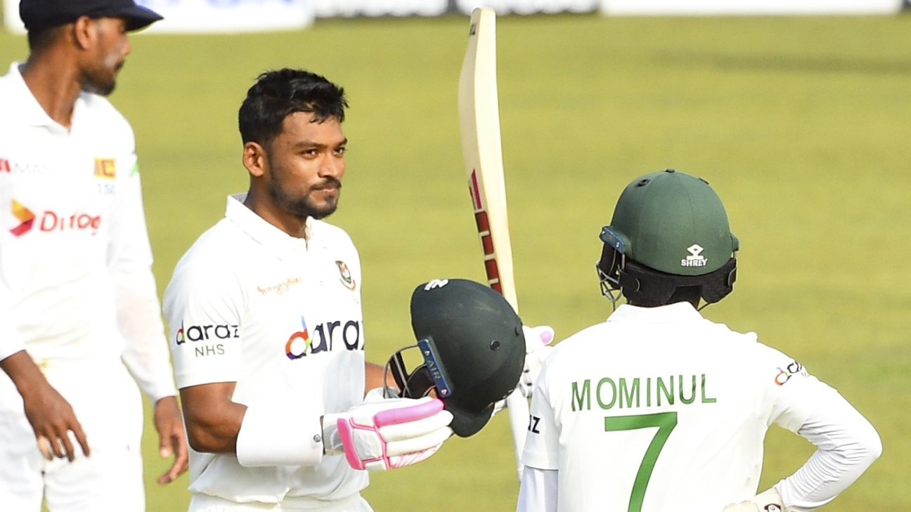 Najmul Hossain Shanto completed his maiden Test century