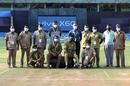 Ground staff gather for a photo at the Wankhede Stadium, Kolkata Knight Riders vs Chennai Super Kings, IPL 2021, Mumbai, April 21, 2021