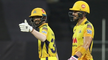 Ruturaj Gaikwad and Faf du Plessis put on 115 in 12.2 overs