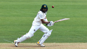 Haseeb Hameed steers a shot through the covers