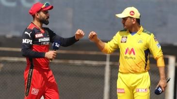 Virat Kohli and MS Dhoni at the toss