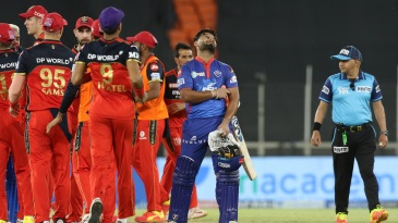 Rishabh Pant expresses his disappointment as the RCB players celebrate