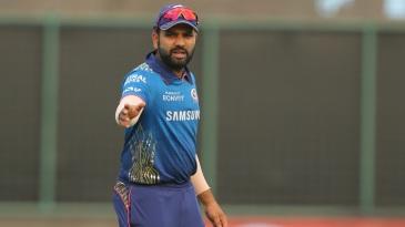 Rohit Sharma sets his field