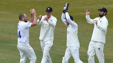 Ben Raine claimed five wickets for two runs in his first 39 balls
