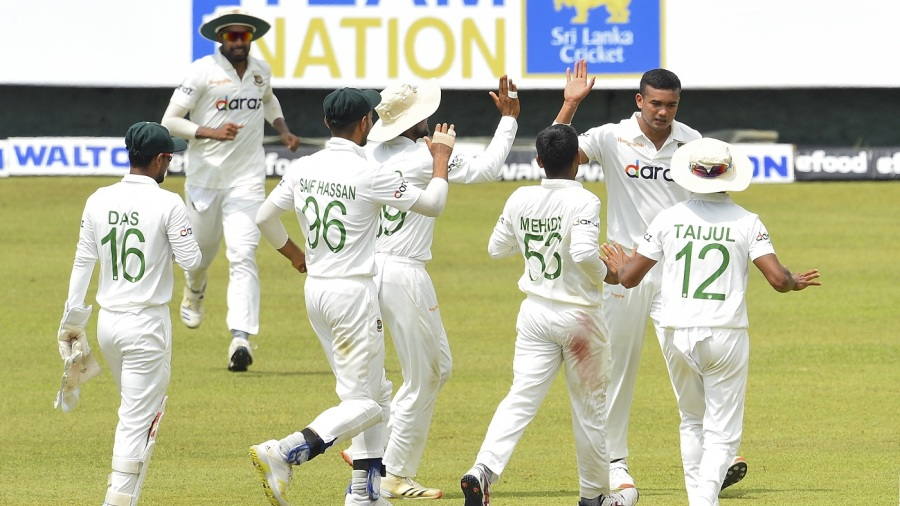 Taskin Ahmed led Bangladesh's revival on the second day