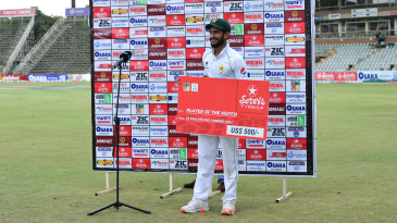 Hasan Ali claimed Player of the Match honors after a career-best 5 for 36 in the second innings