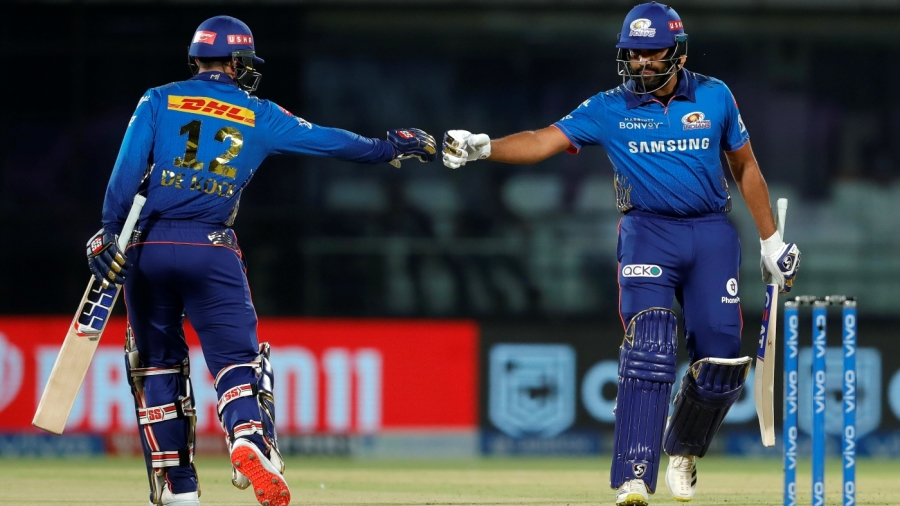 Quinton de Kock and Rohit Sharma got Mumbai Indians' chase off to a rapid start