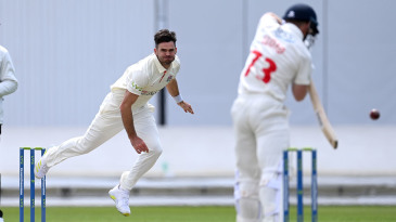 James Anderson returns to action
