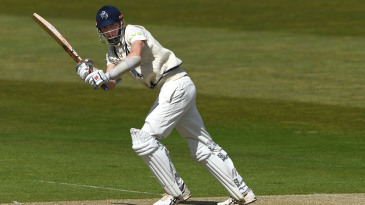 Zak Crawley plays to the leg side