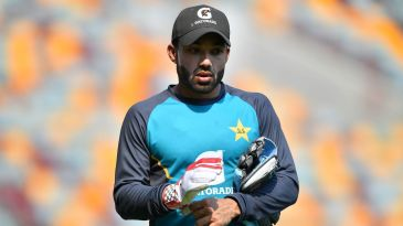 Mohammad Rizwan attends a training session ahead of the first Test