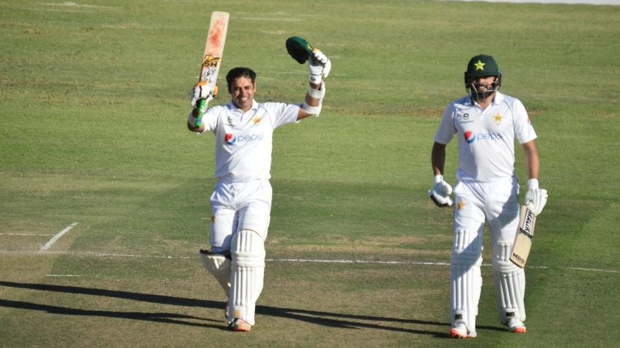 Abid ali brought up his third Test century