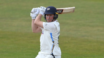 Gary Ballance cuts on his way to fifty