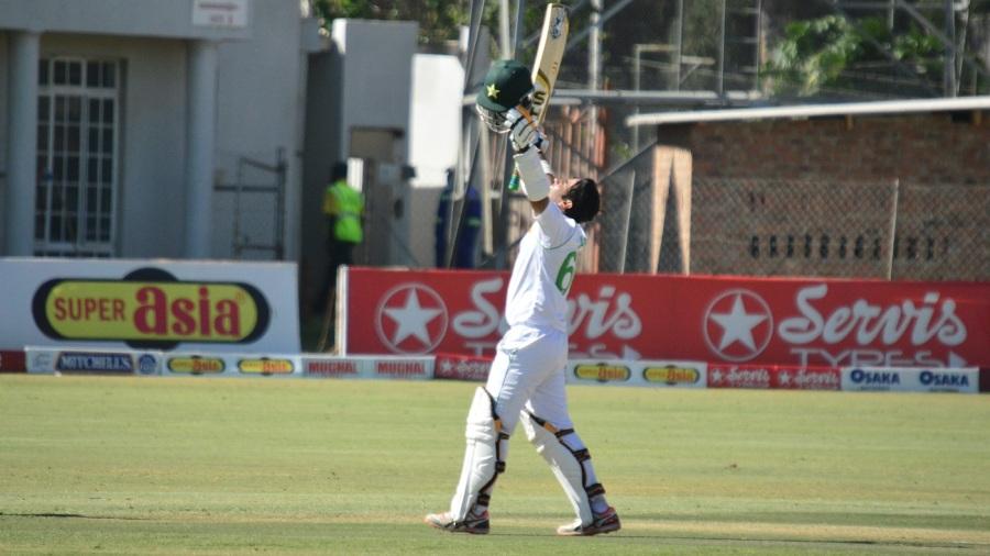 Abid Ali celebrates his double-century