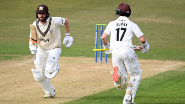 Mark Stoneman and Rory Burns shared a 164-run stand for the first wicket