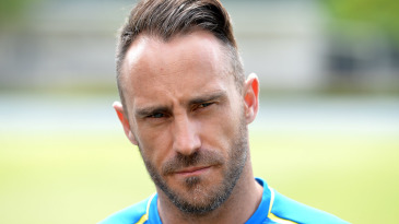 Faf du Plessis speaks at a press conference before a T20 training session