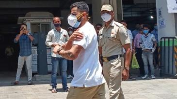 Virat Kohli walks in for his covid-19 vaccination in Mumbai
