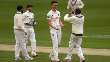 Nathan Gilchrist kept Kent in touch with three wickets