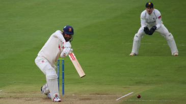 Alastair Cook's cover-driving was a feature of his 57 at Chelmsford
