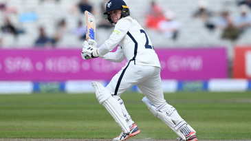 Harry Duke made a fifty in only his second first-class innings