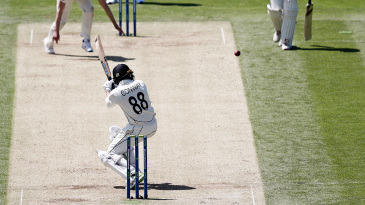 Devon Conway plays a shot to the leg side