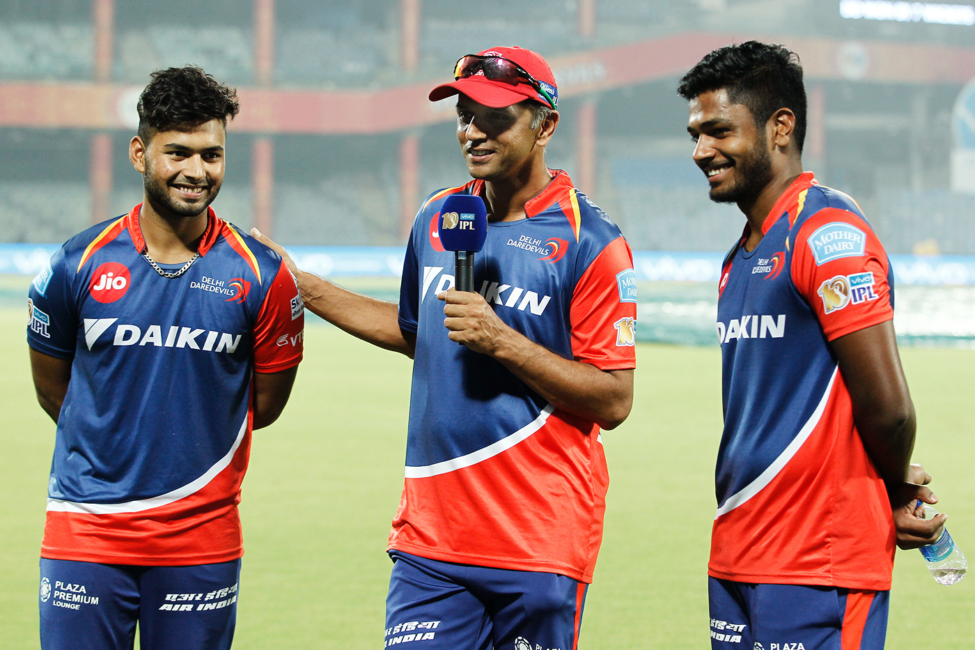 Made in the IPL: the tournament has been a crucible for Indian talent, throwing up stars like Rishabh Pant and Sanju Samson (seen here with Rahul Dravid in 2017)