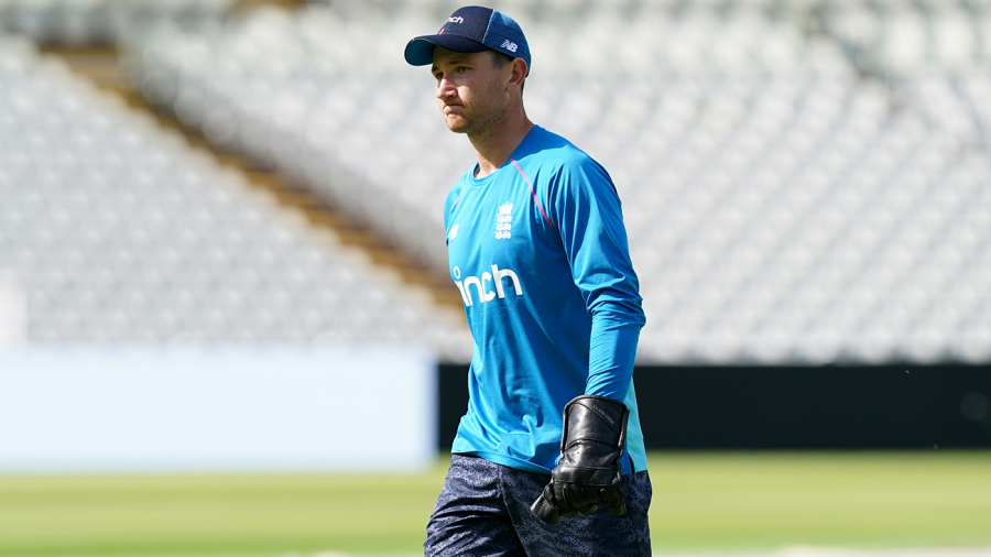 James Bracey took a blow to the finger in training at Edgbaston