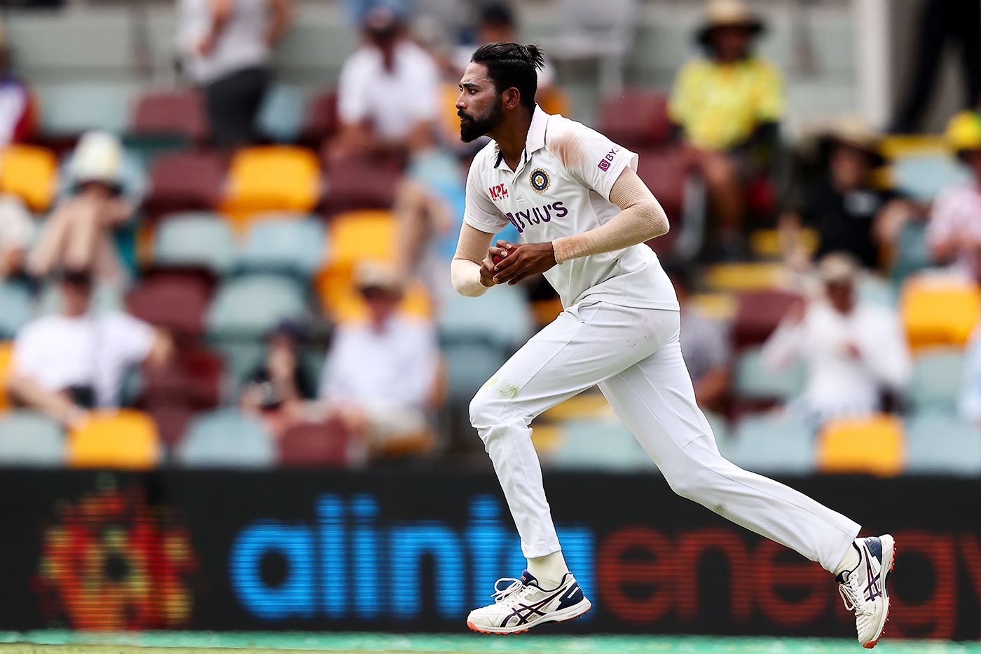 The real deal: Mohammed Siraj was surprisingly close to the finished article in his first Test series, against Australia a few months ago