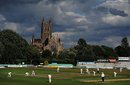 A general view of the Lions and India A game, England Lions v India A, Worcester, July 17, 2018