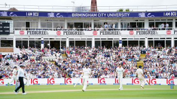 Fans returned to the Edgbaston stands