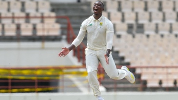 Lungi Ngidi claimed five wickets as West Indies were routed for 97