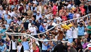Fans make merry at a lively Edgbaston, England vs New Zealand, 2nd Test, Birmingham, 2nd day, June 11, 2021