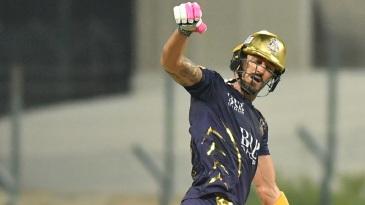 Faf du Plessis loses his bat
