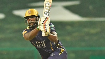 Andre Russell was hit on the helmet by a Musa Khan bouncer