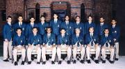 Pakistan Academy team to South Africa group photograph, 2003-04<br>Front (L-R): Faisal Athar, Dr Sohail Saleem (physio), Naved Anjum (coach), Faisal Iqbal (captain), Azhar Zaidi (manager), Junaid Zia (vice-captain), Naved Latif.<br>Back (L-R): Salman Butt, Sohail Ahmed, Khaqan Arsal, Bilal Asad, Abdul Rauf, Yasir Ali, Fahad Masood, Mansoor Amjad, Asim Kamal, Adnan Akmal.